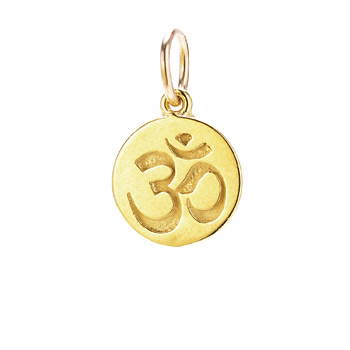 om+charm%2C+gold+dipped