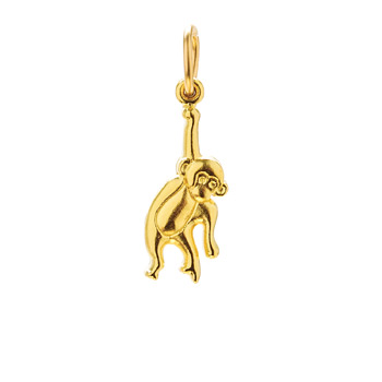 monkey charm, gold dipped