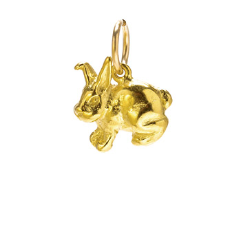 rabbit+charm%2C+gold+dipped