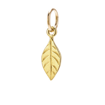 sage charm, gold dipped