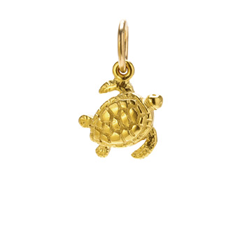 sea+turtle+charm%2C+gold+dipped