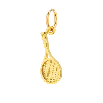 tennis+racket+charm%2C+gold+dipped