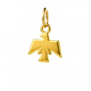 thunderbird charm, gold dipped