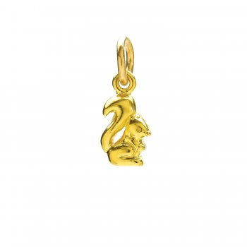 squirrel+charm%2C+gold+dipped