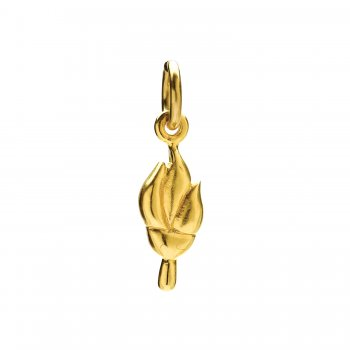 torch charm, gold dipped