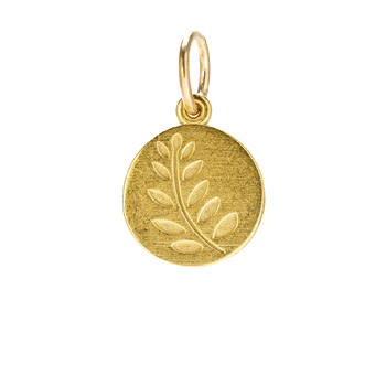 wheat charm, gold dipped