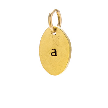 """A"" charm, gold dipped"