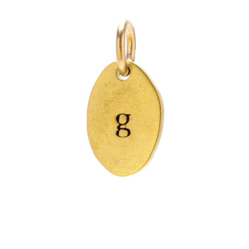"""G"" charm, gold dipped"