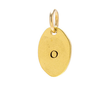 &quot;O&quot; charm, gold dipped