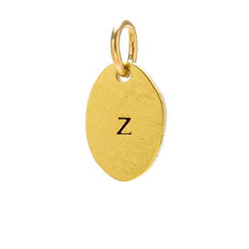 """Z"" charm, gold dipped"