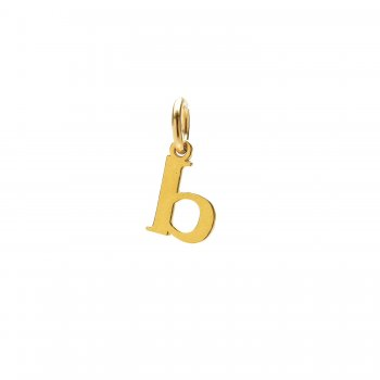 open b charm, gold dipped