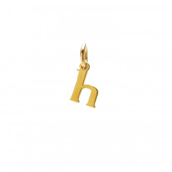 open h charm, gold dipped