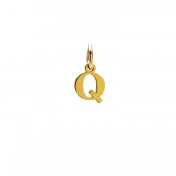 open q charm, gold dipped