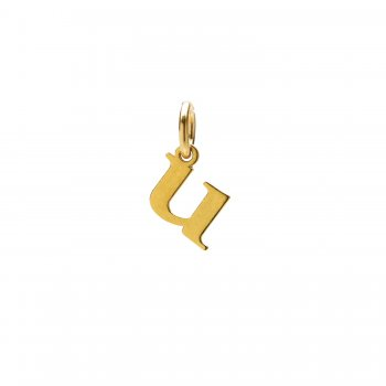 open+u+charm%2C+gold+dipped