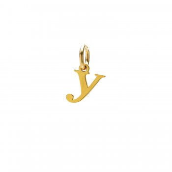 open y charm, gold dipped
