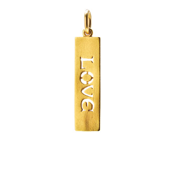%22love%22+word+charm%2C+gold+dipped