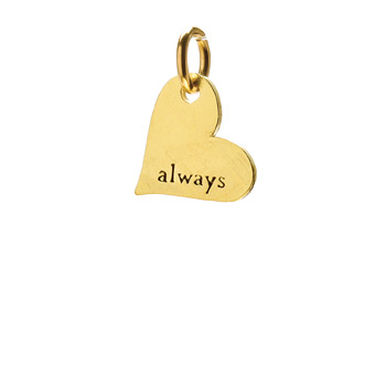 &quot;always&quot; heart charm, gold dipped