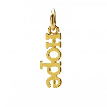 hope charm, gold dipped