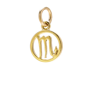 zodiac &quot;scorpio&quot; charm, gold dipped