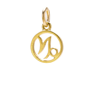 zodiac+%22capricorn%22+charm%2C+gold+dipped