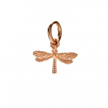 dragonfly charm, rose gold