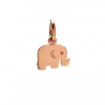elephant+charm%2C+rose+gold