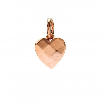 faceted heart charm, rose gold