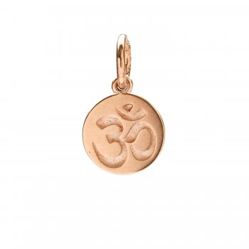 om charm, rose gold
