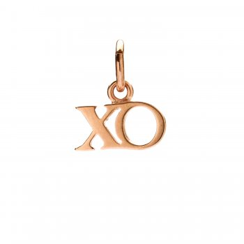 xo charm, rose gold