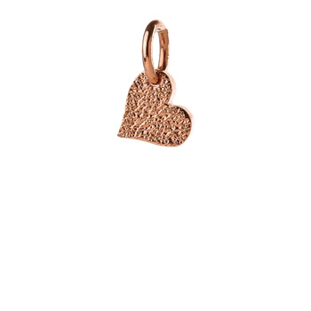 hopeFULL heart charm, rose gold
