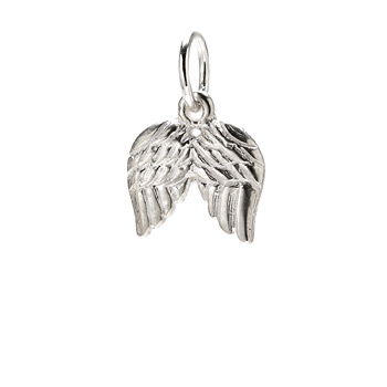 angel+wings+charm%2C+sterling+silver