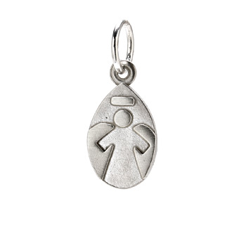 angel+charm%2C+sterling+silver