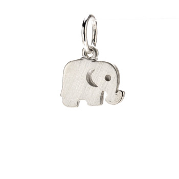 elephant+charm%2C+sterling+silver