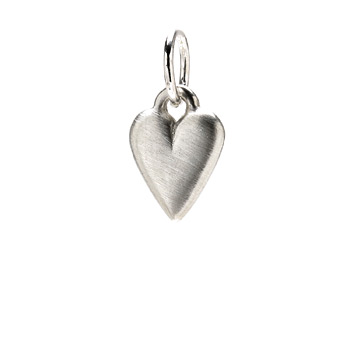 kind heart charm, sterling silver