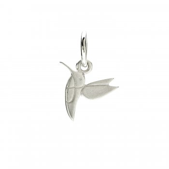 hummingbird charm, sterling silver