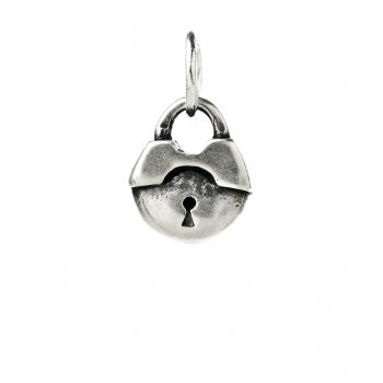lock+charm%2C+sterling+silver