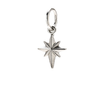 north+star+charm%2C+sterling+silver