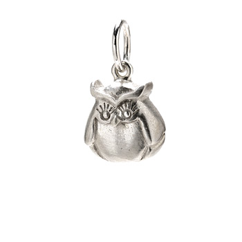 owl+charm%2C+sterling+silver