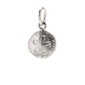 sand dollar charm, sterling silver