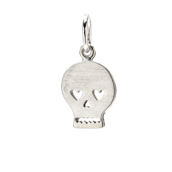 skull+charm%2C+sterling+silver