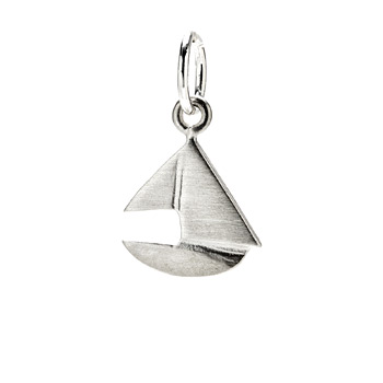sailboat charm, sterling silver