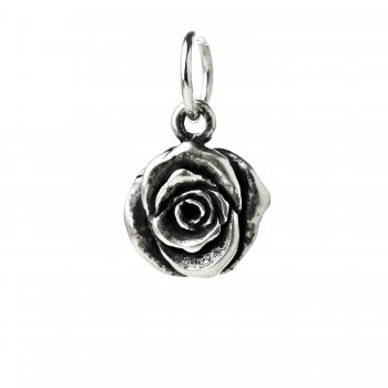 rose+charm%2C+sterling+silver