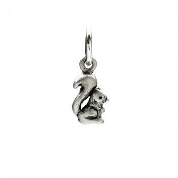 squirrel charm, sterling silver