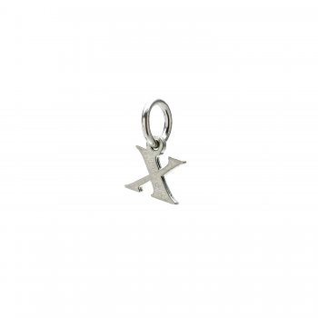 open x charm, sterling silver