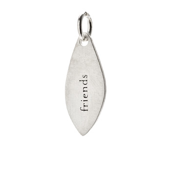 """friends"" petal charm, sterling silver"