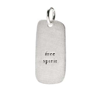 &quot;free spirit&quot; charm, sterling silver