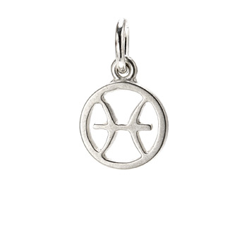 zodiac+%22pisces%22+charm%2C+sterling+silver