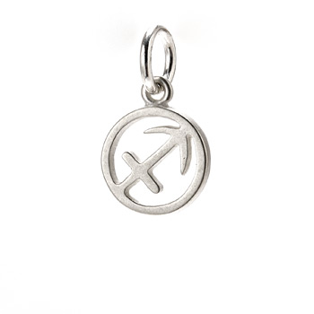 zodiac+%22sagittarius%22+charm%2C+sterling+silver