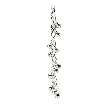 cascading disco beads, sterling silver