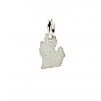 michigan charm, sterling silver